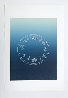 Anna Gray + Ryan Wilson Paulsen, Flora Clock, 2017