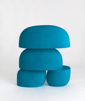 "Iván Carmona, Juey, 2020, flashe paint on ceramic, 34 ¾"" x 30"" x 9"""