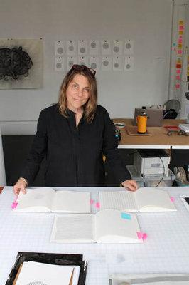 Heather Watkins in her SE studio, Image by David Schell